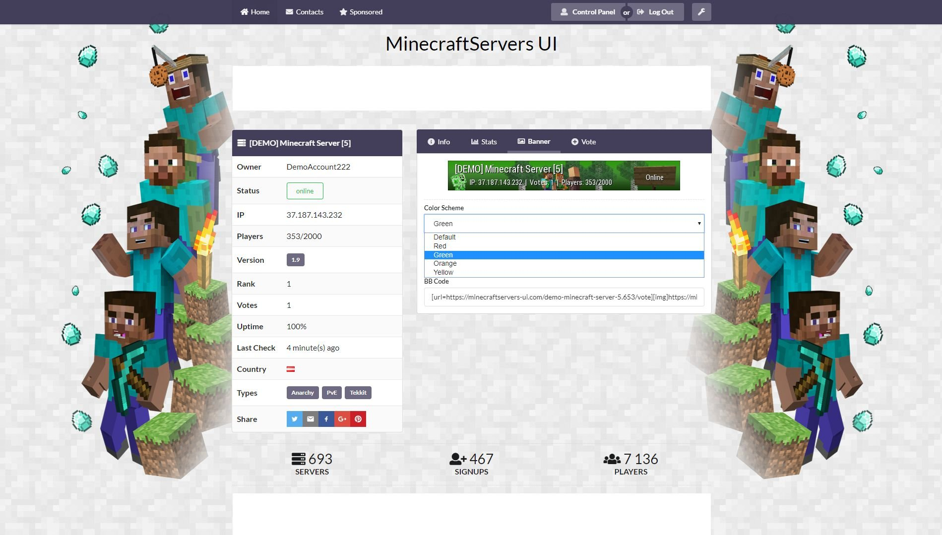 Ultimate Minecraft Server List Screenshot 9