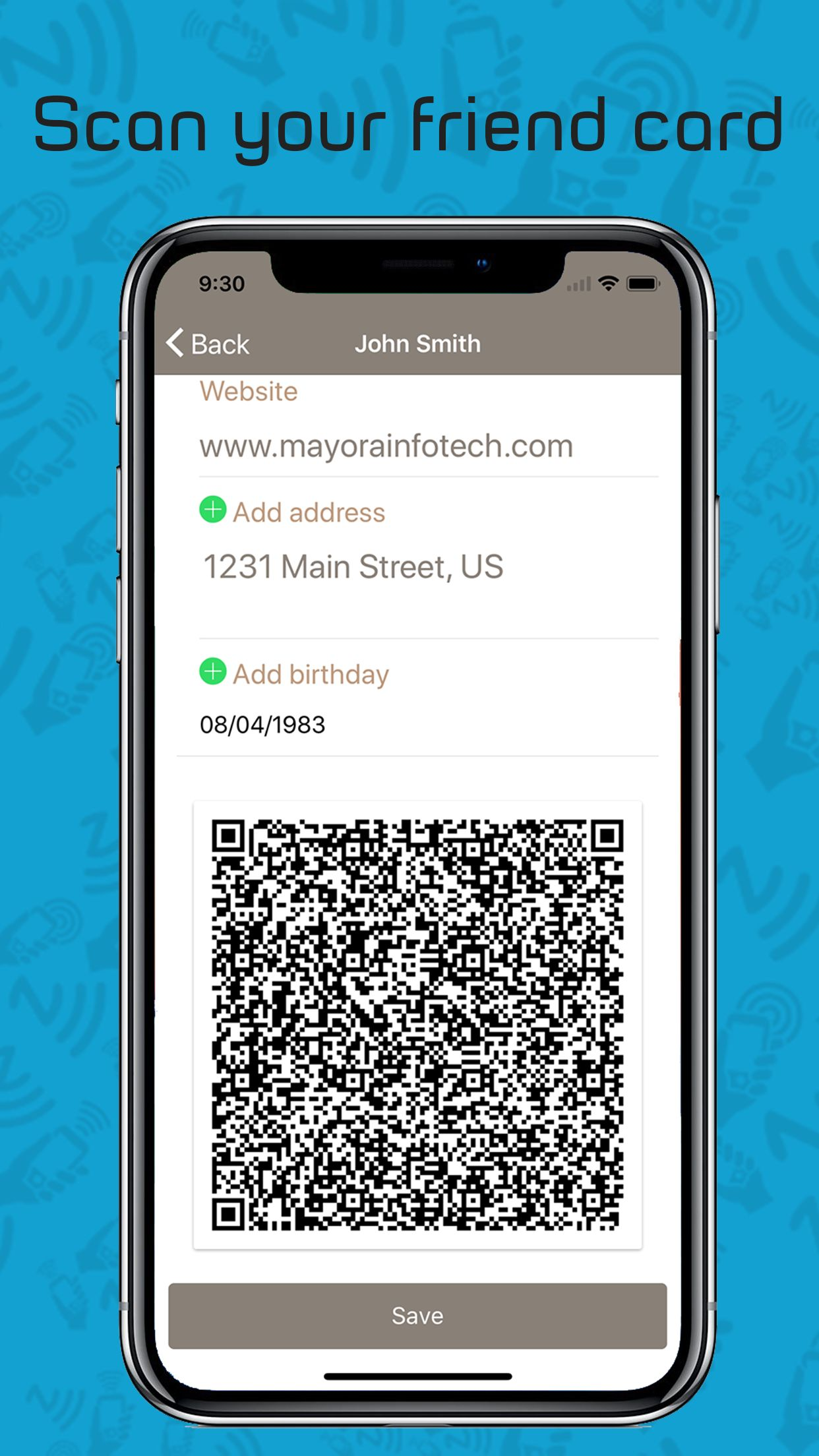 Card Sharing App in Ionic using NFC and Firebase Screenshot 5