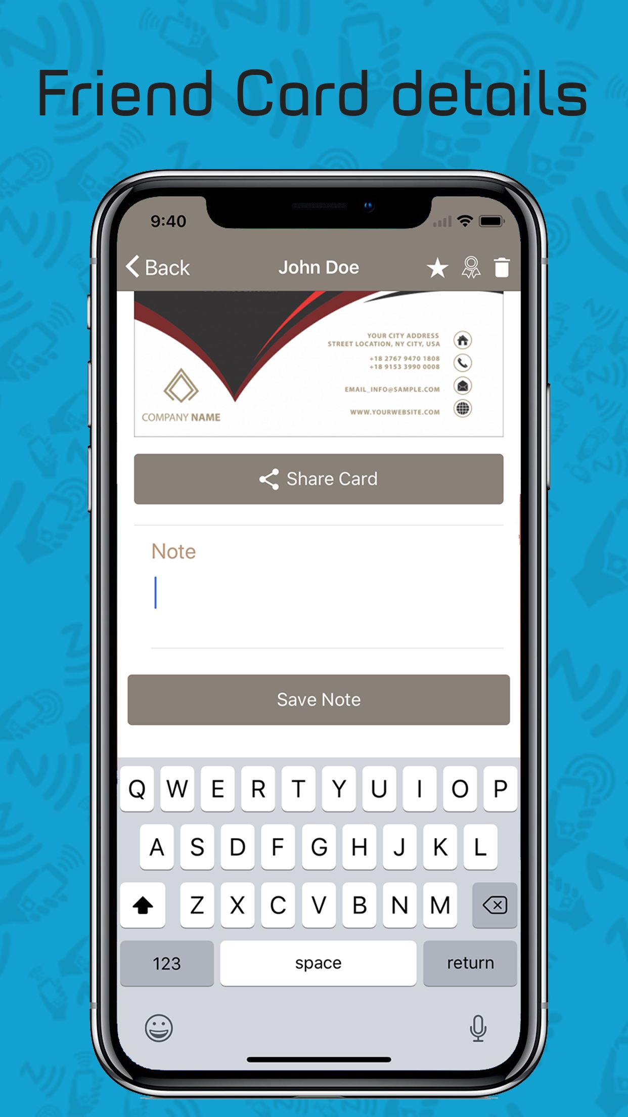 Card Sharing App in Ionic using NFC and Firebase Screenshot 8