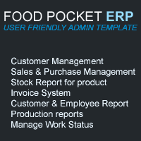Food Pocket ERP Script PHP