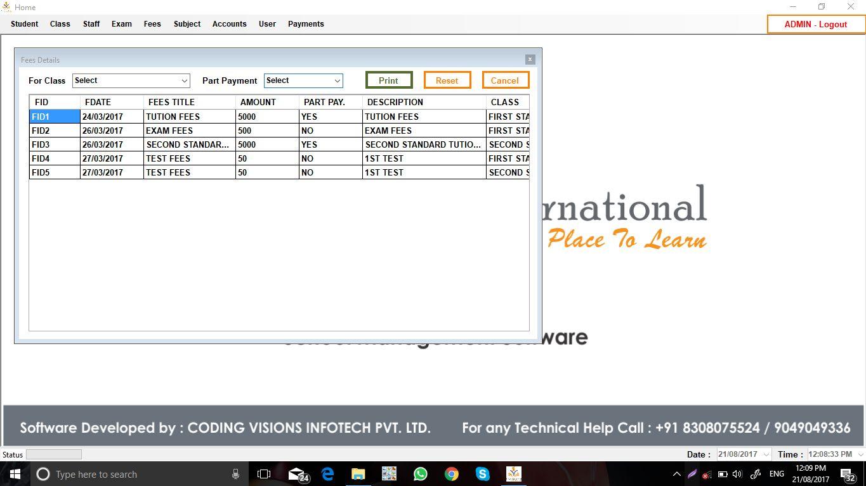 School Management System VB NET