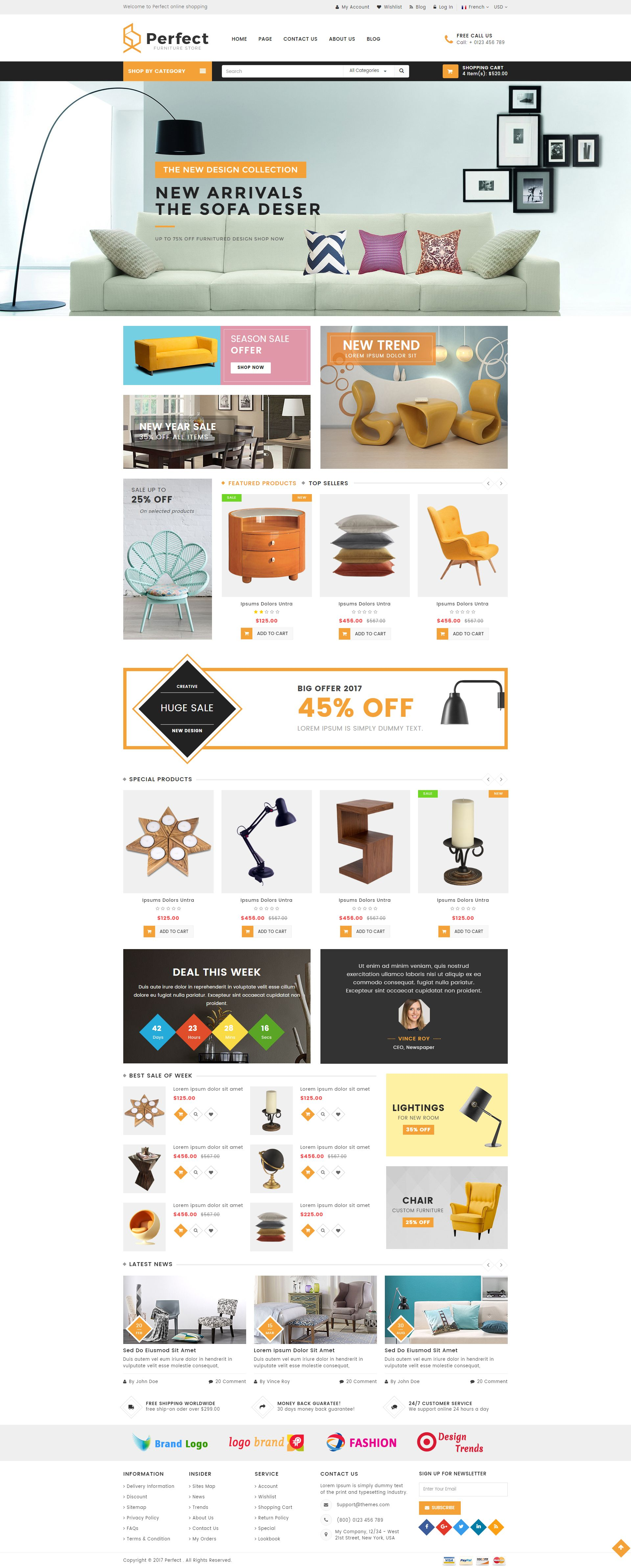 Perfect - Responsive Ecommerce HTML5 Template Screenshot 1