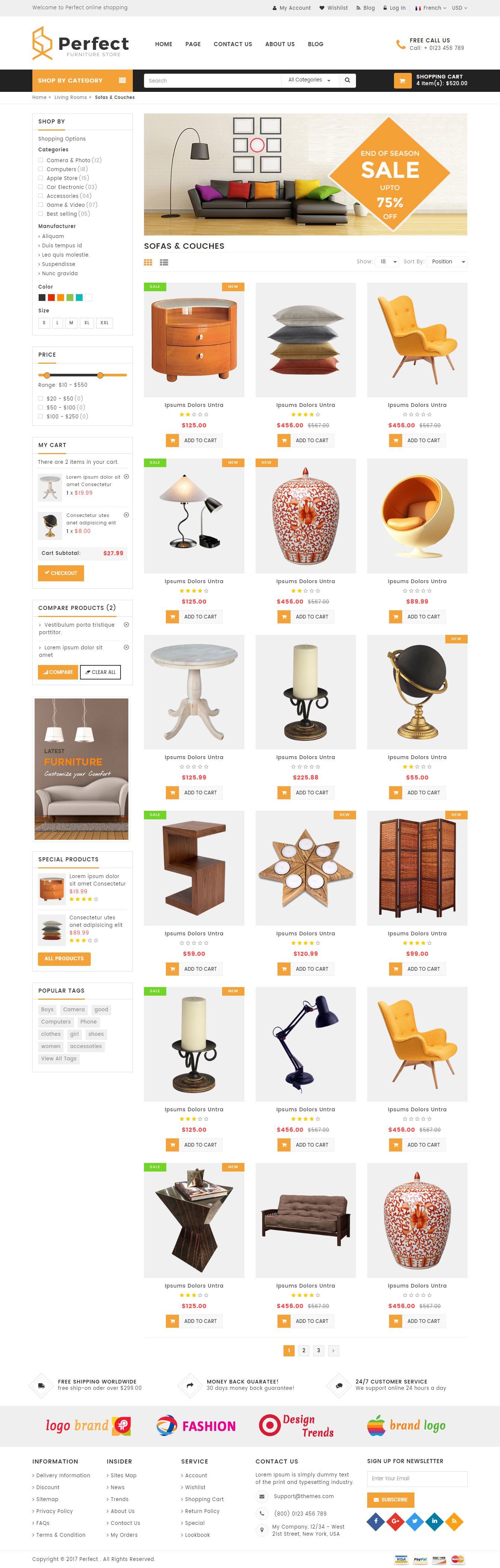Perfect - Responsive Ecommerce HTML5 Template Screenshot 2