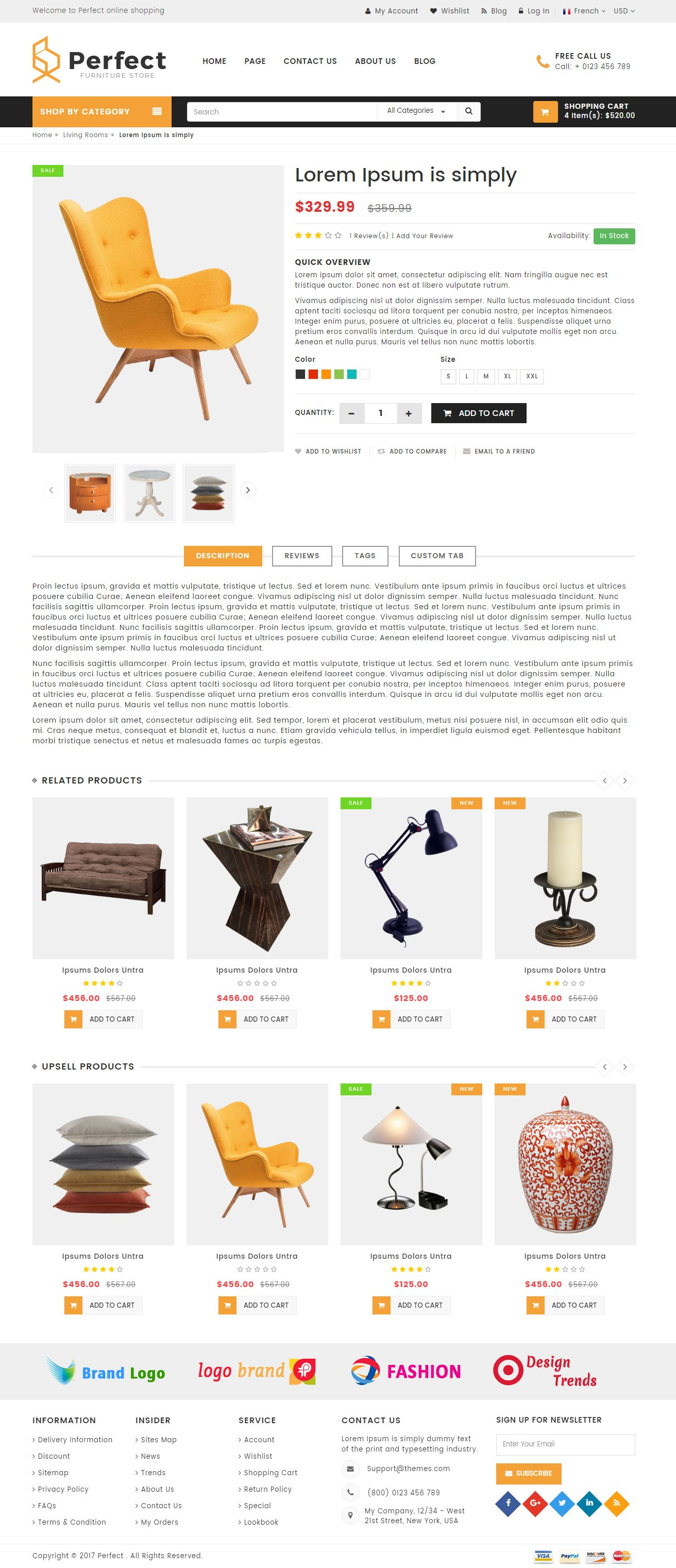 Perfect - Responsive Ecommerce HTML5 Template Screenshot 4