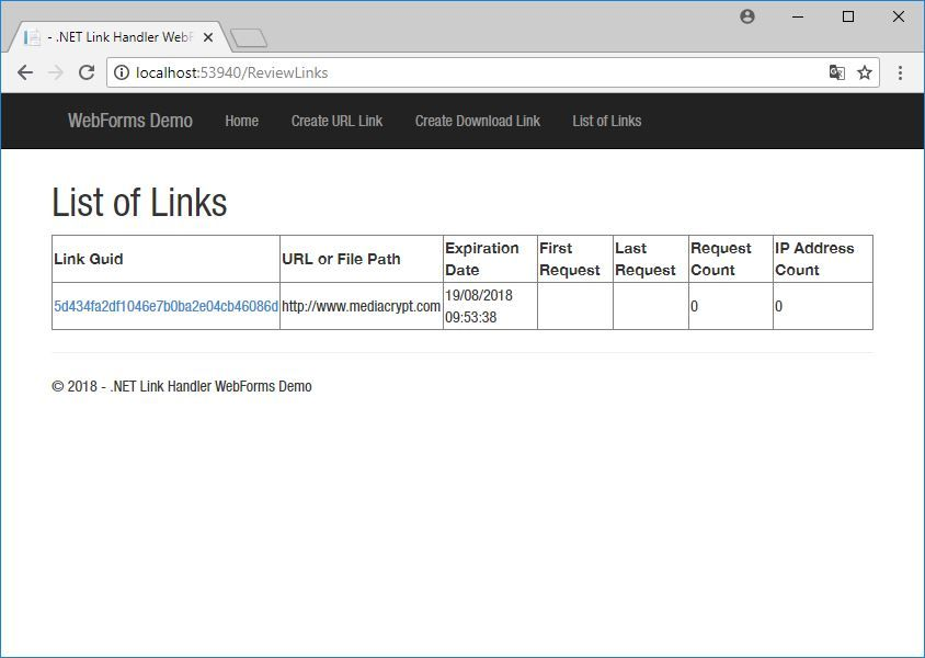 .NET Link Handler Screenshot 6
