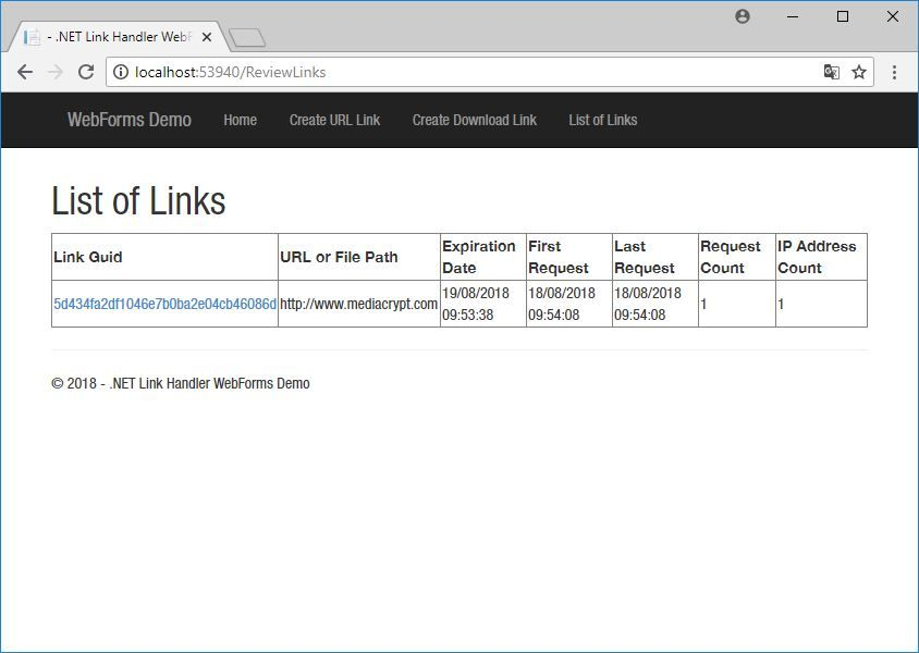 .NET Link Handler Screenshot 7