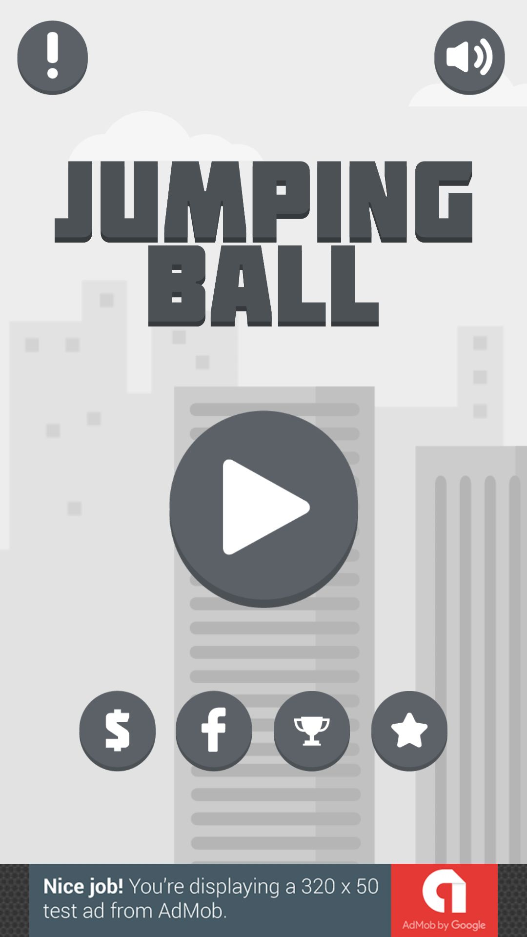 Jumping Ball - Buildbox Game Template Screenshot 1