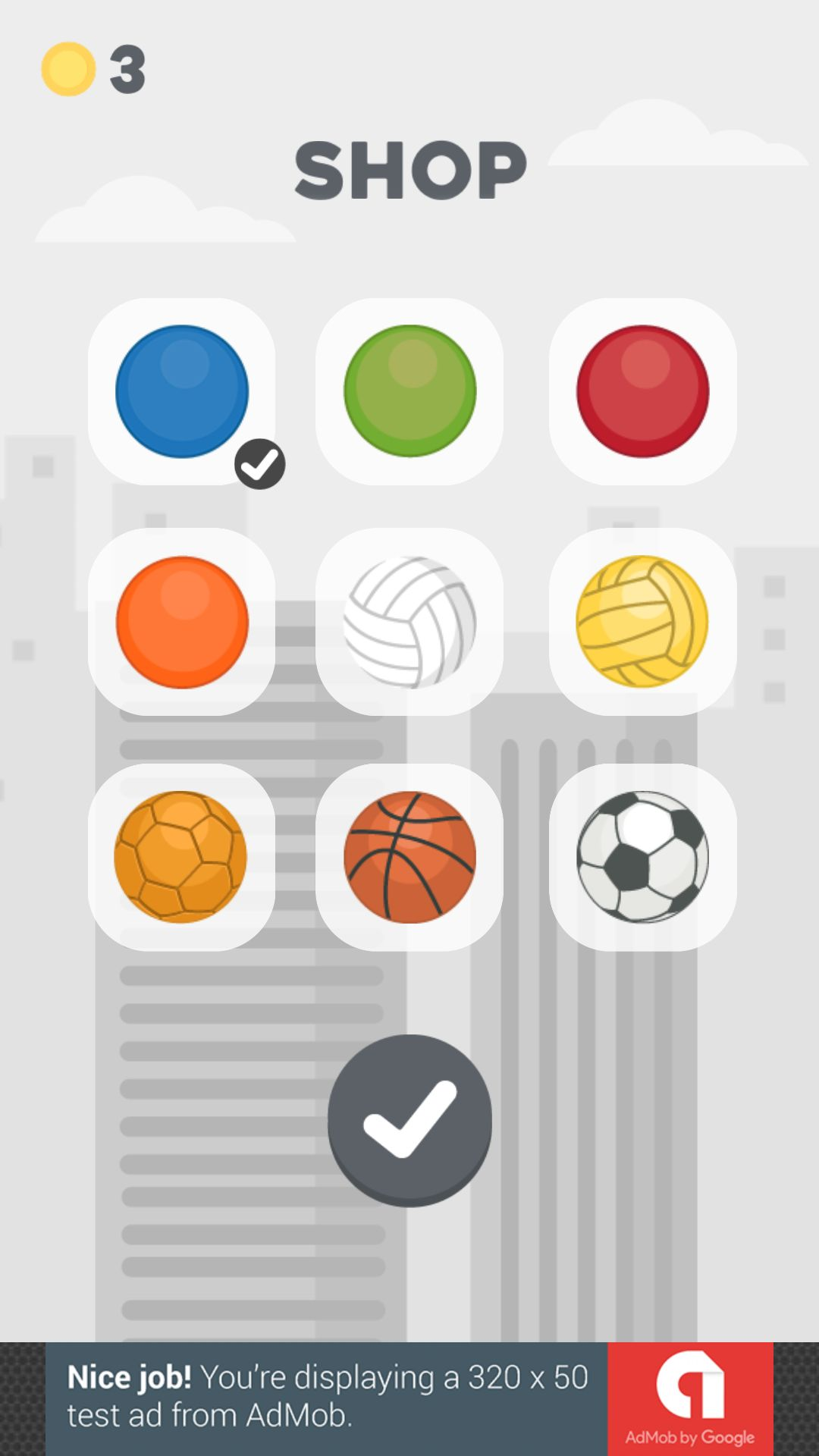 Jumping Ball - Buildbox Game Template Screenshot 2