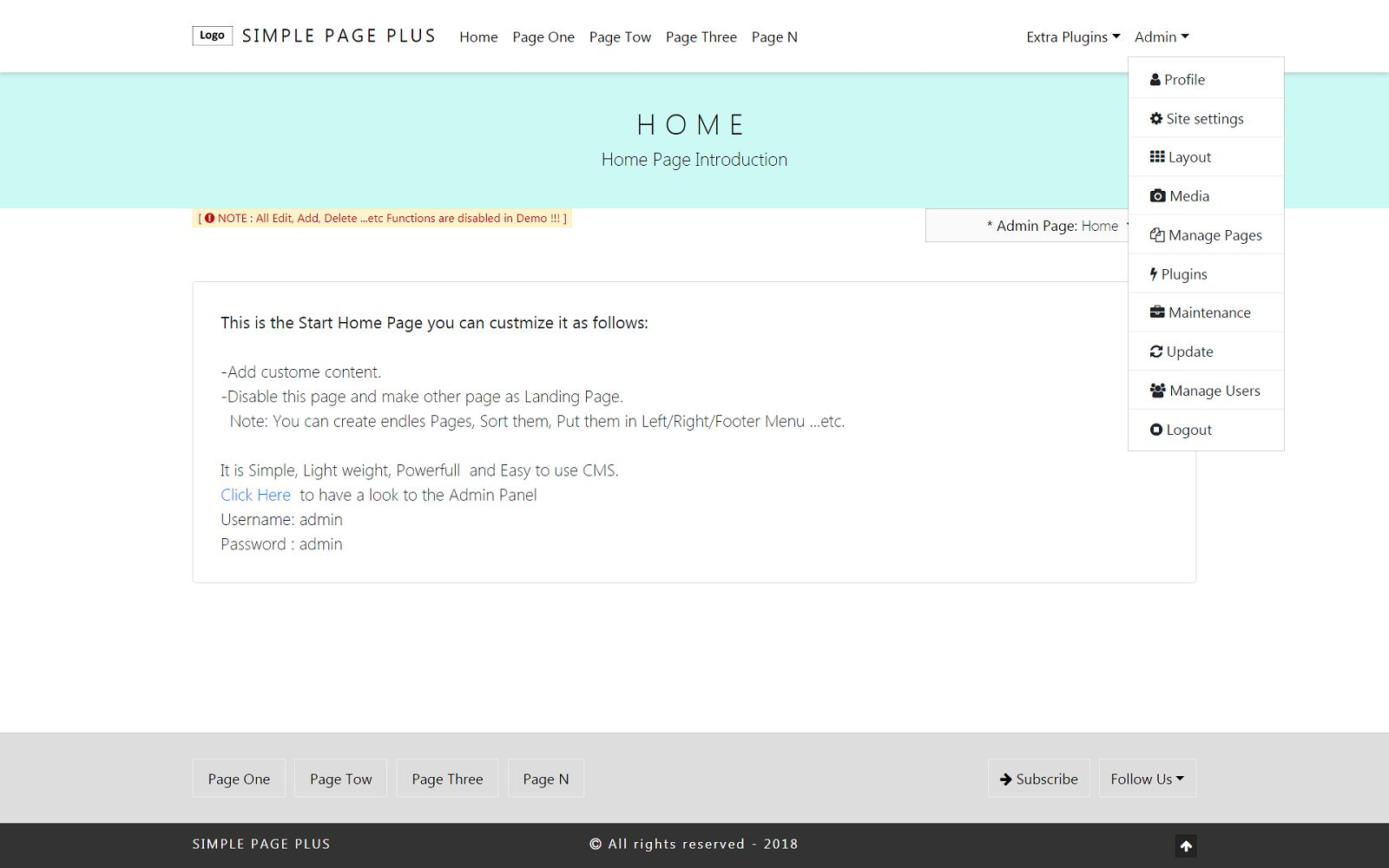 SPPcms - Lightweight Website CMS Screenshot 8