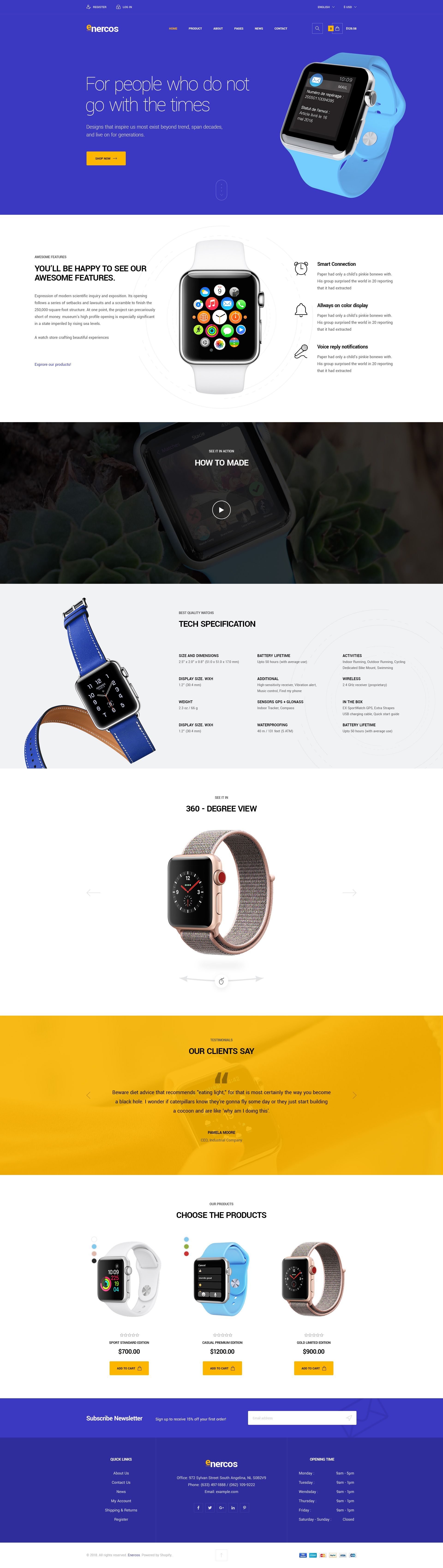 Enercos - Single Product eCommerce HTML5 Template Screenshot 3
