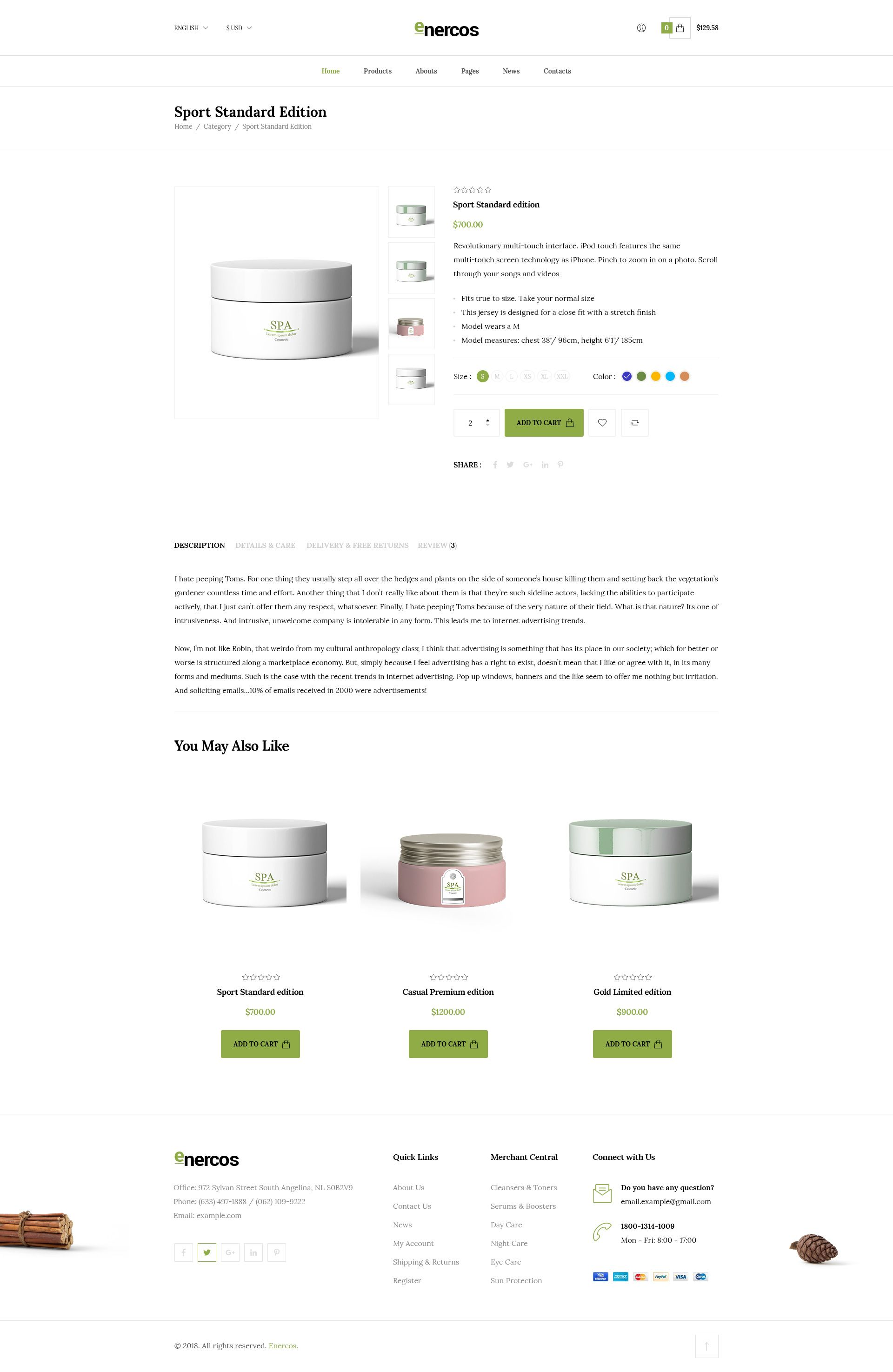 Enercos - Single Product eCommerce HTML5 Template Screenshot 7