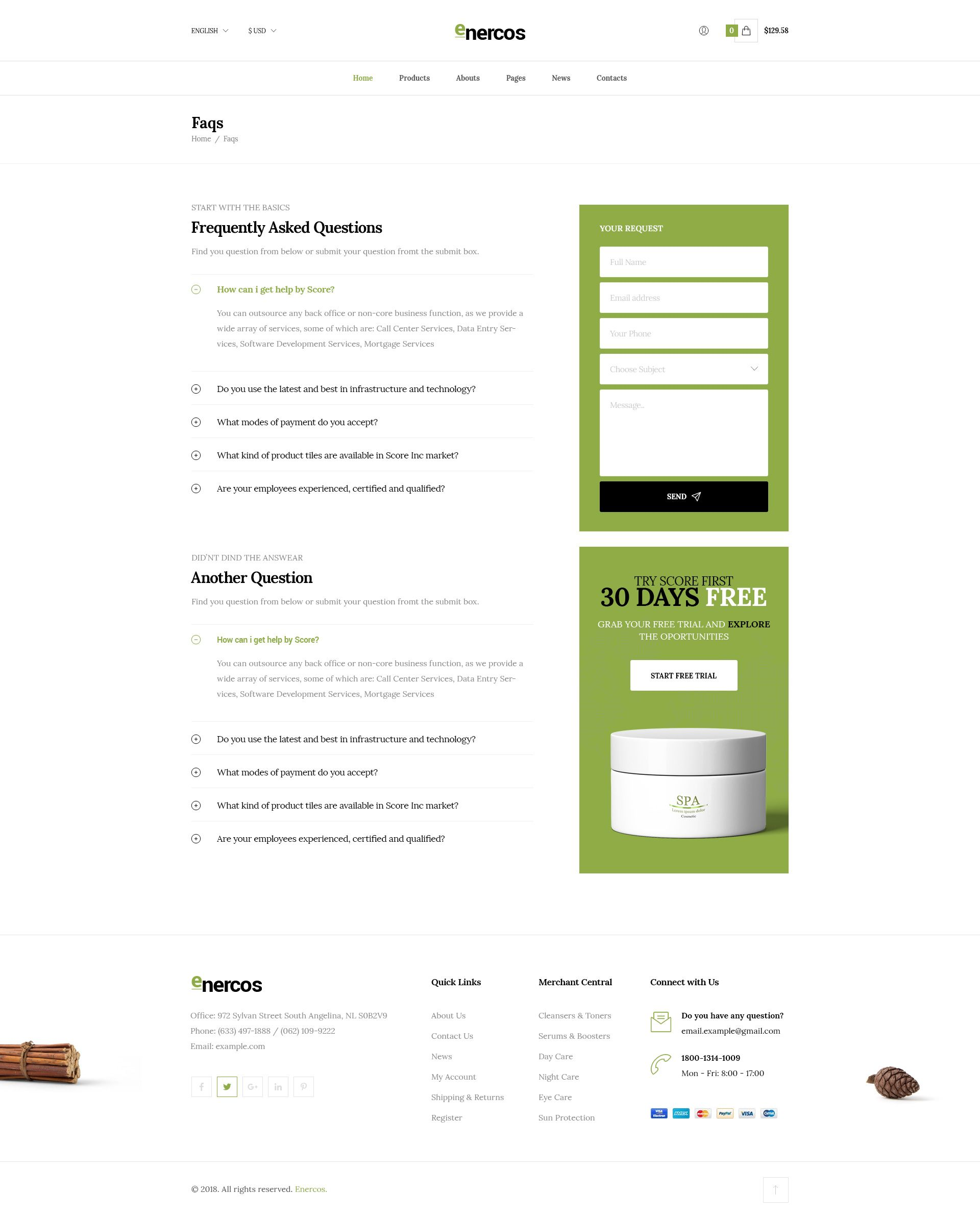 Enercos - Single Product eCommerce HTML5 Template Screenshot 10
