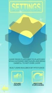 Cube Jump Buildbox Template Screenshot 2