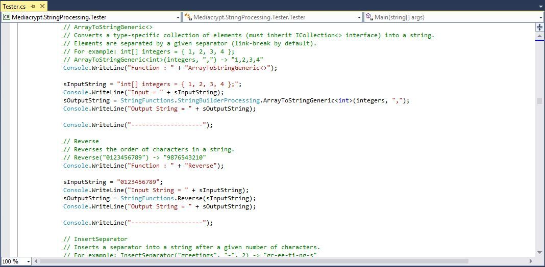 Mediacrypt StringProcessing  .NET  Screenshot 2