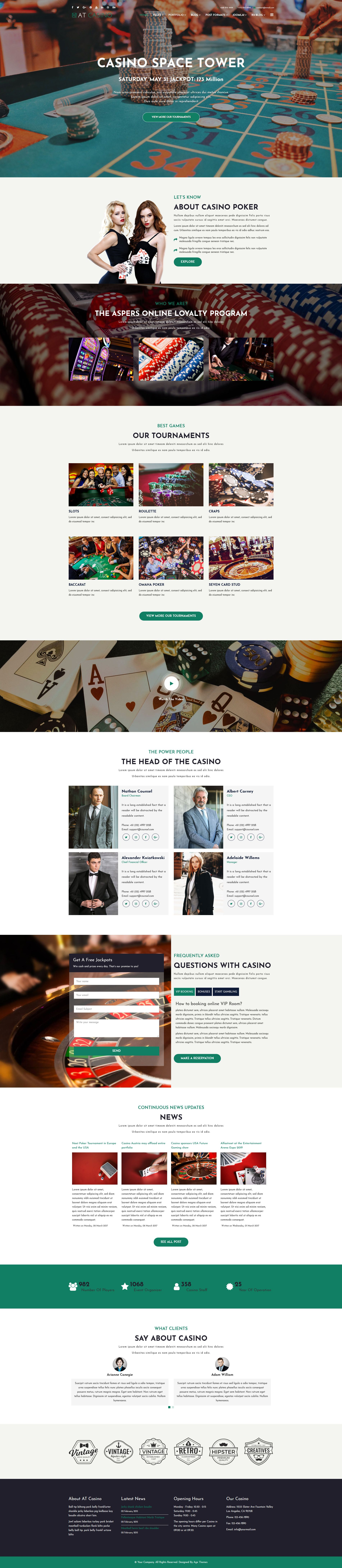 AT Casino Joomla Template Screenshot 1