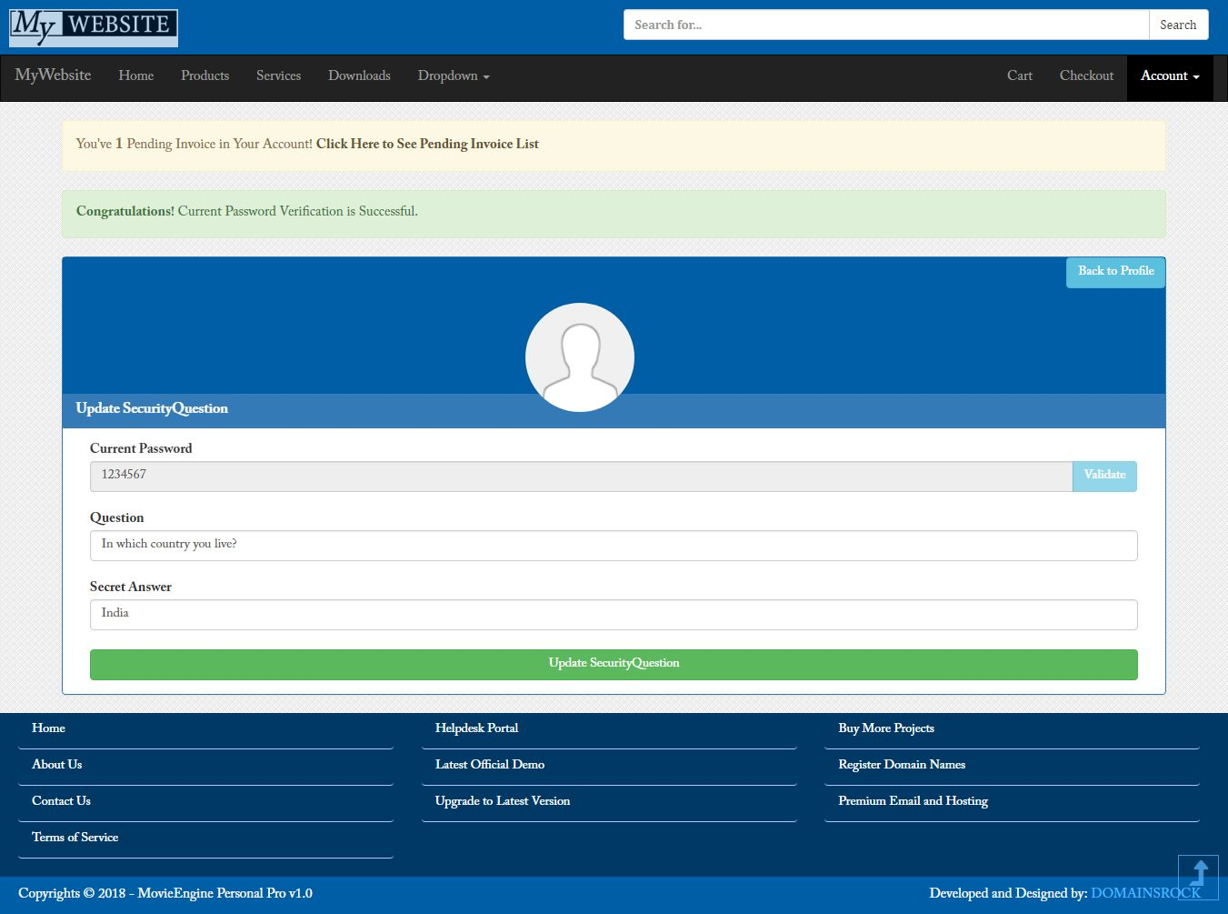 MyWebsite Pro - ASP.Net CMS Screenshot 18