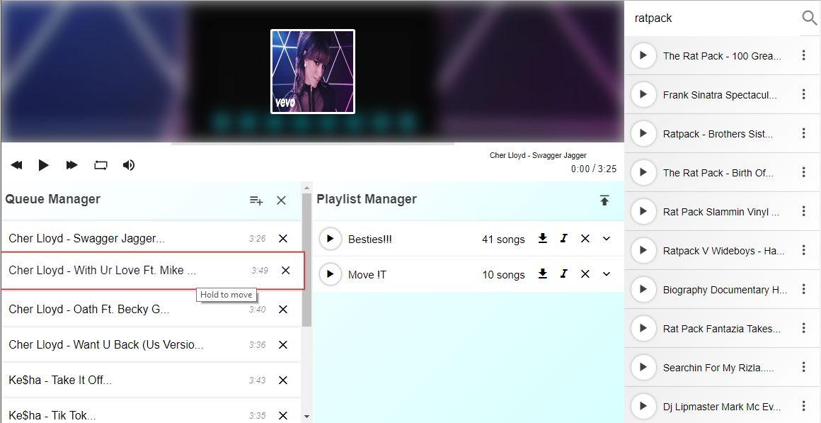 React js YouTube MP3 Player