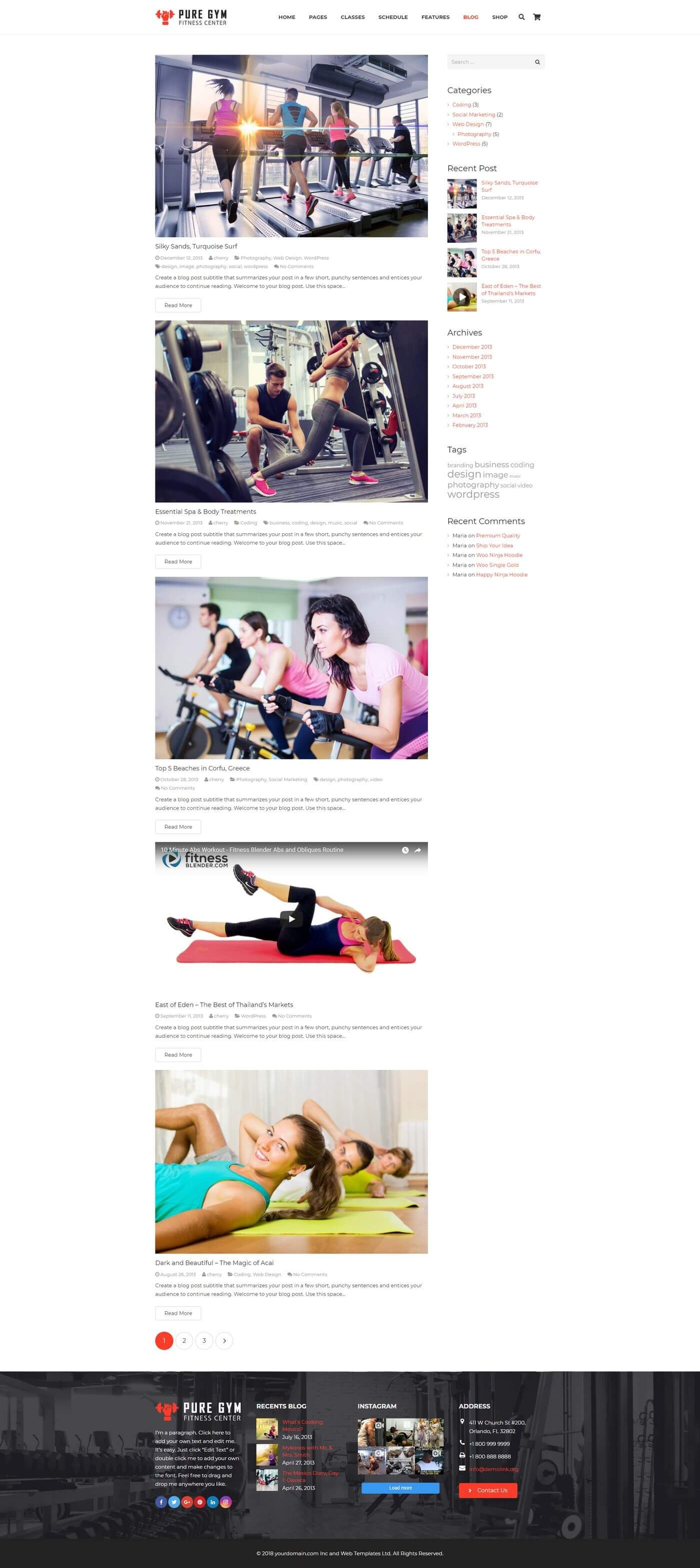 PureGym - Gym Fitness WordPress Theme Screenshot 7