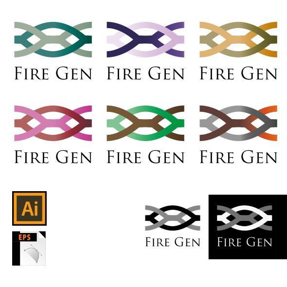 Logo Template Fire Gen Screenshot 2