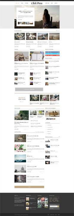 Click Press - Magazine WordPress Theme Screenshot 1