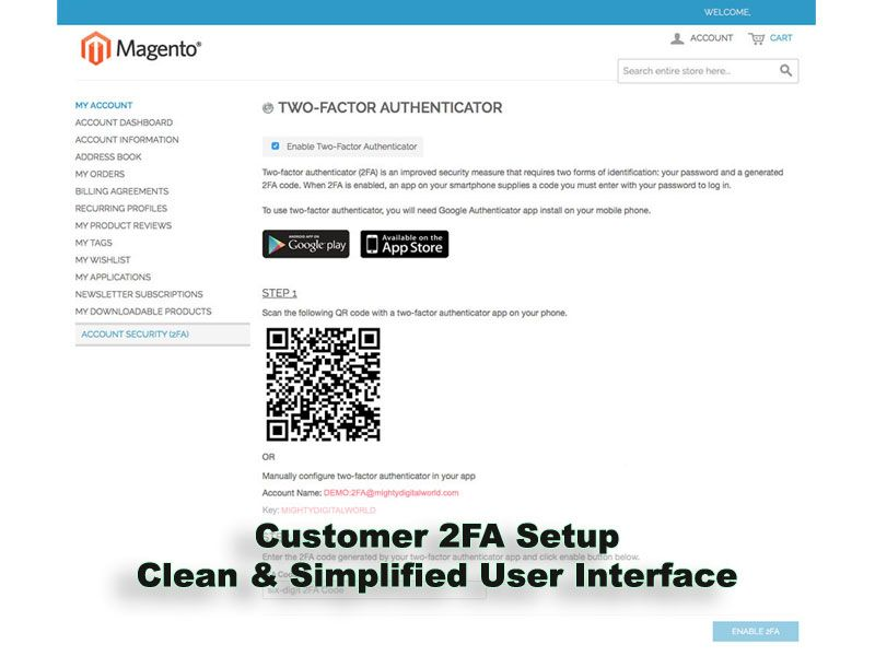 Two-Factor Authenticator Extension for Magento Screenshot 6