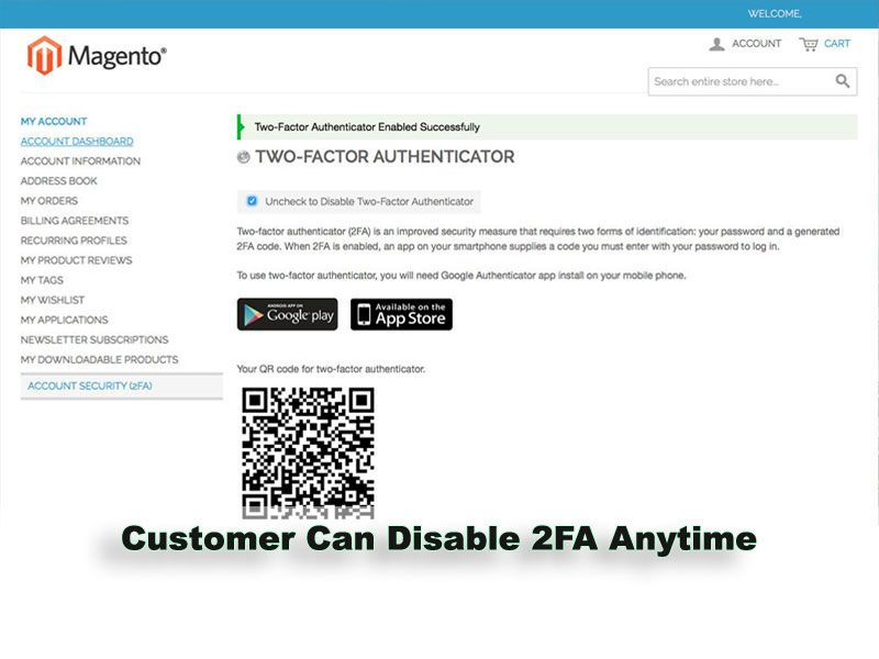 Two-Factor Authenticator Extension for Magento Screenshot 7