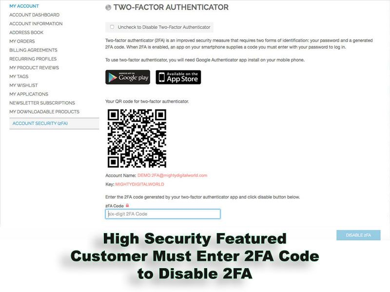 Two-Factor Authenticator Extension for Magento Screenshot 8