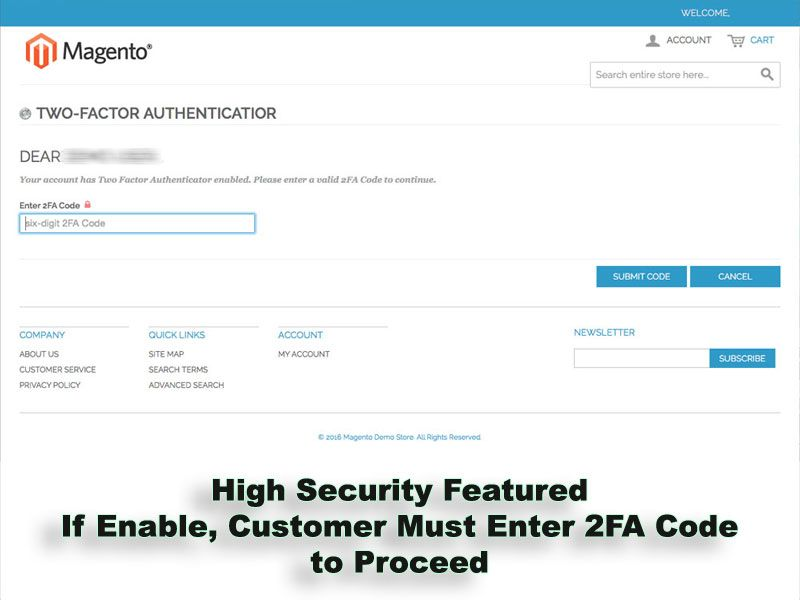 Two-Factor Authenticator Extension for Magento Screenshot 9