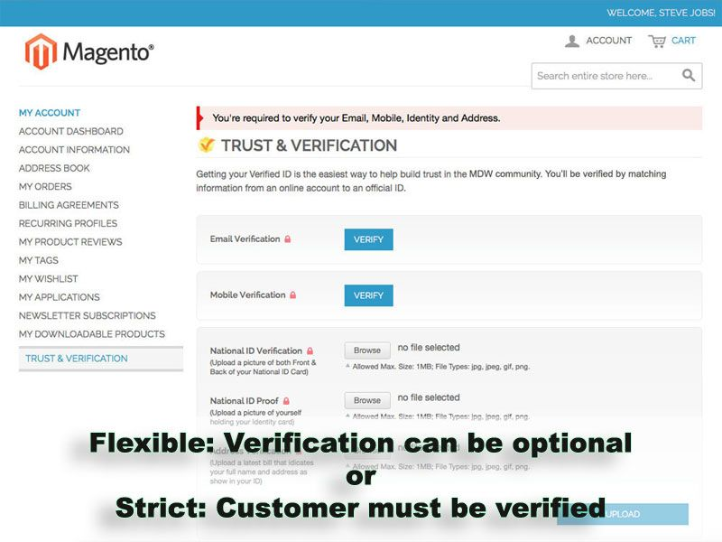 Trust And Verification Extension for Magento Screenshot 4