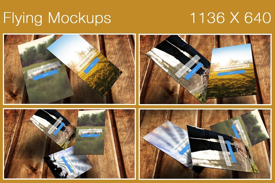 Flying Mobile Screen Mockups Screenshot 2