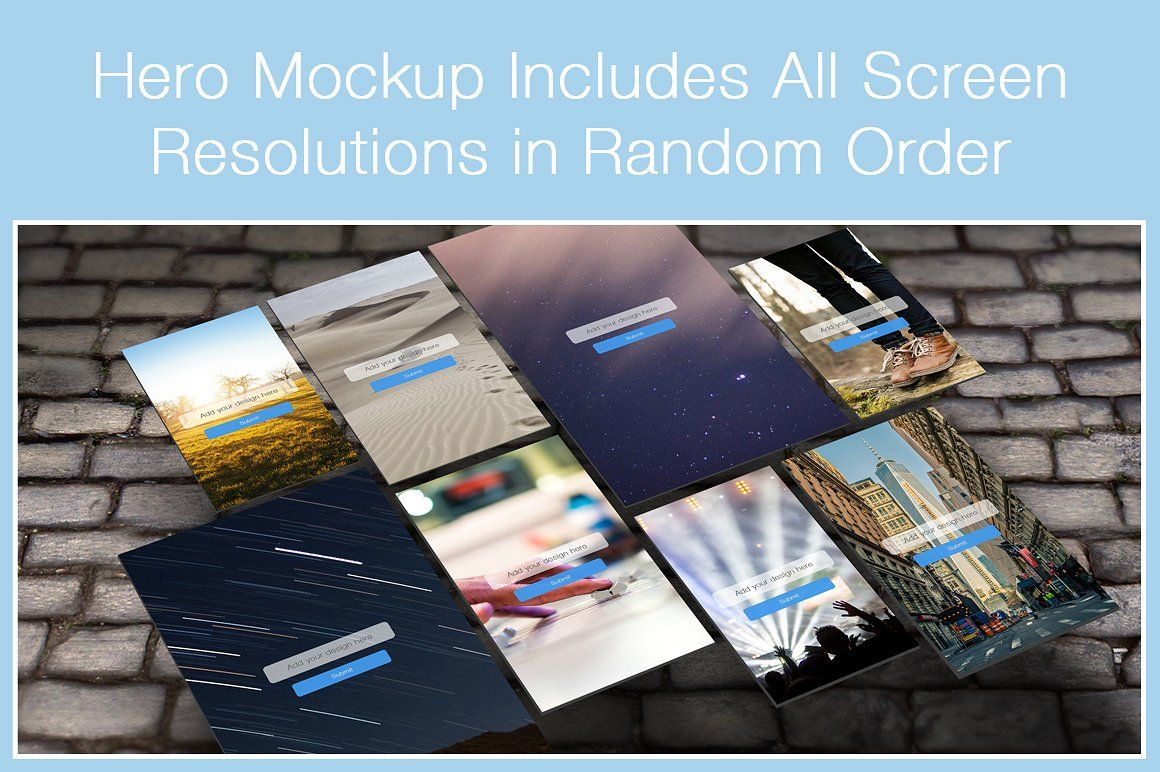 Flying Mobile Screen Mockups Screenshot 5
