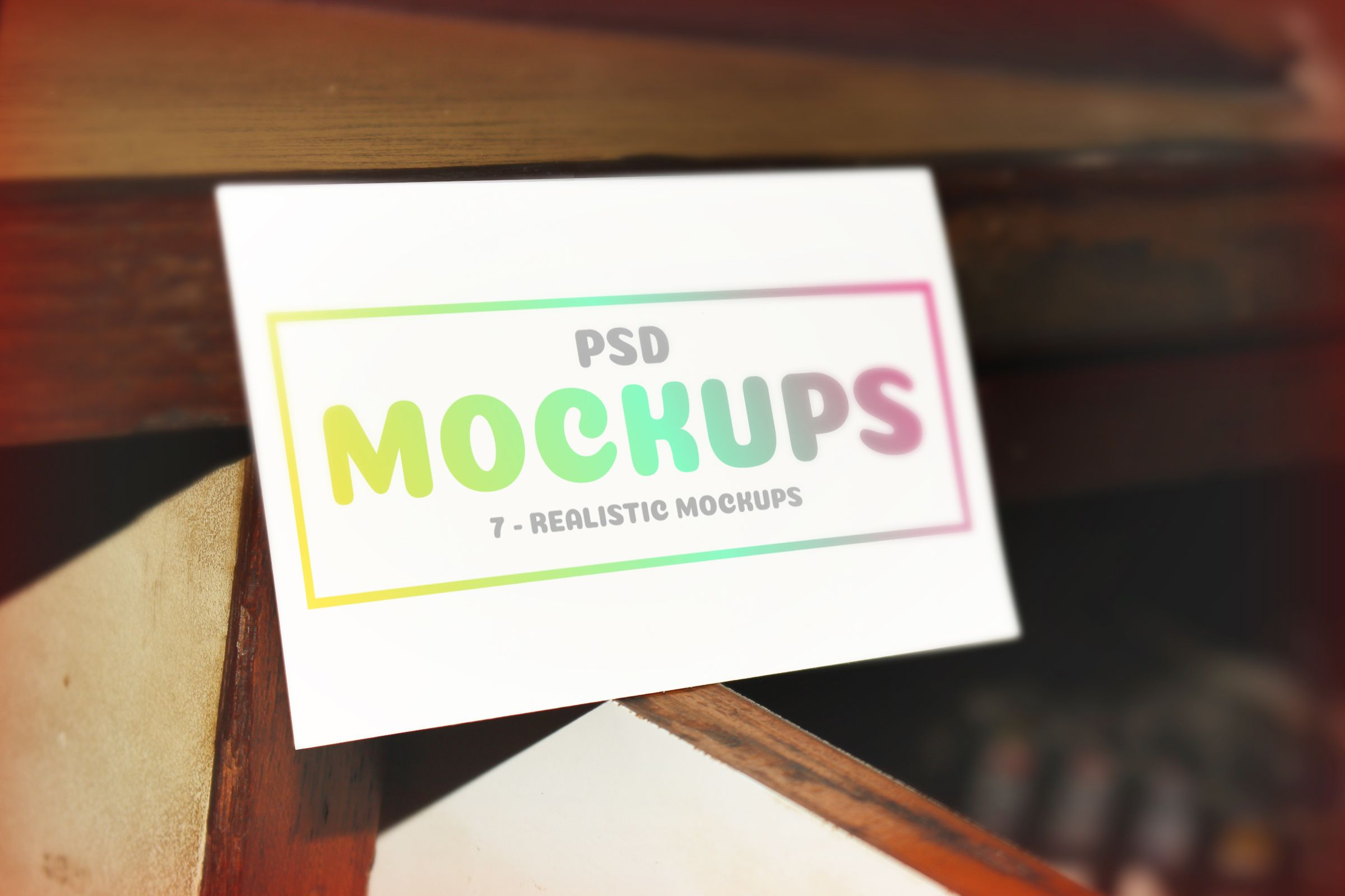 7 Realistic Business Cards Mockups Screenshot 4