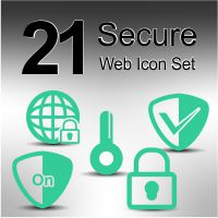 21 Secure Web Icon Set
