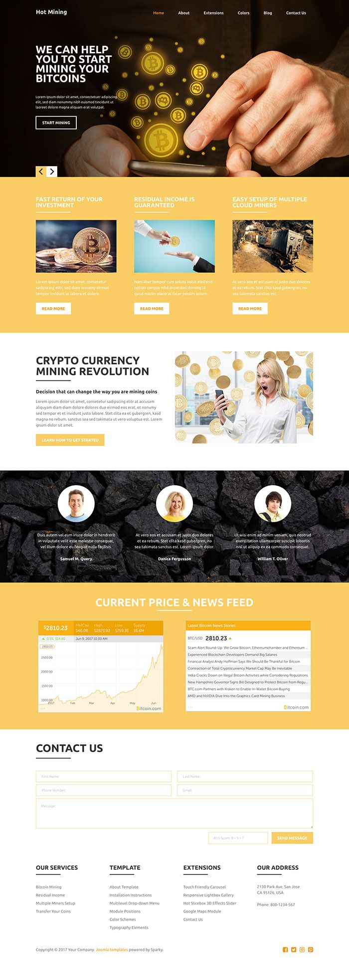 Hot Mining - Joomla Template Screenshot 1