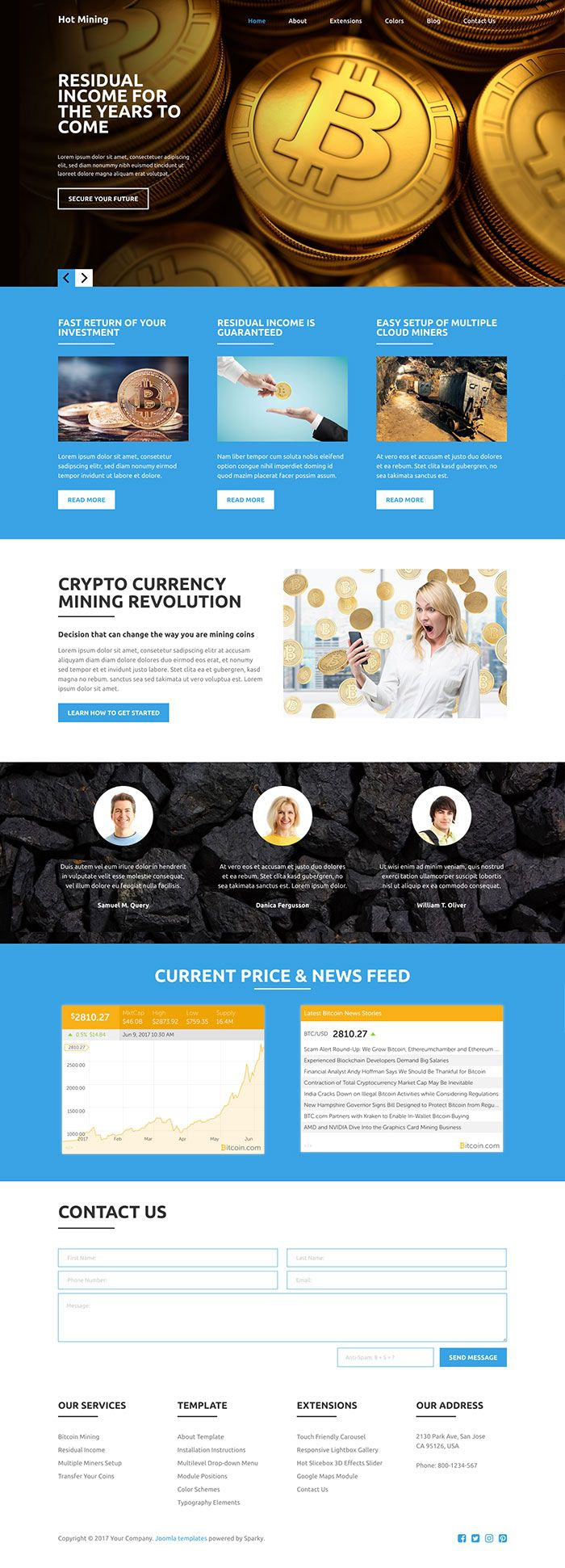 Hot Mining - Joomla Template Screenshot 2