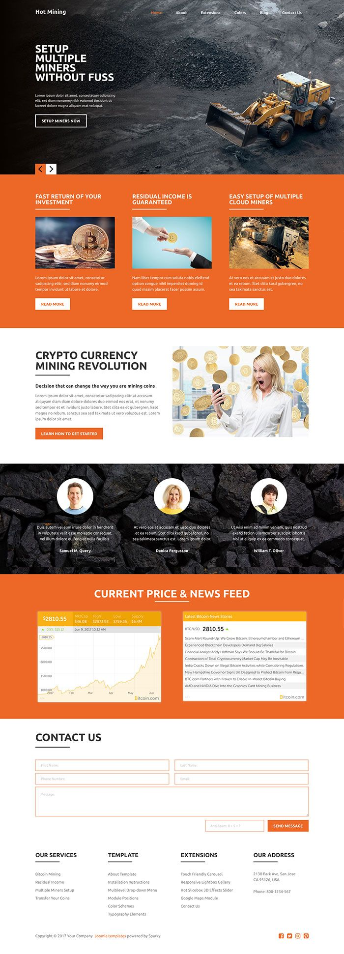 Hot Mining - Joomla Template Screenshot 3