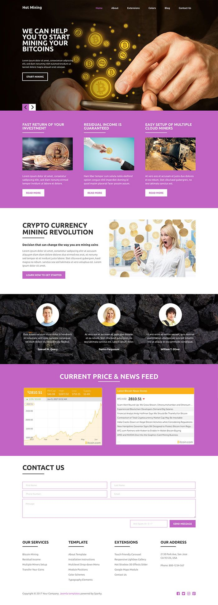 Hot Mining - Joomla Template Screenshot 4