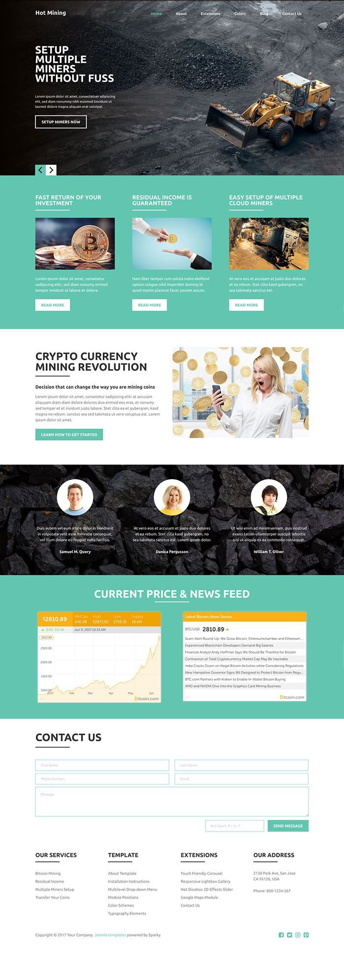 Hot Mining - Joomla Template Screenshot 5
