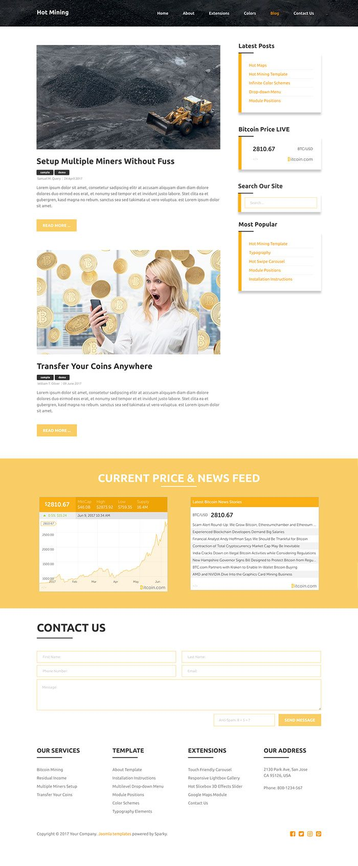 Hot Mining - Joomla Template Screenshot 6