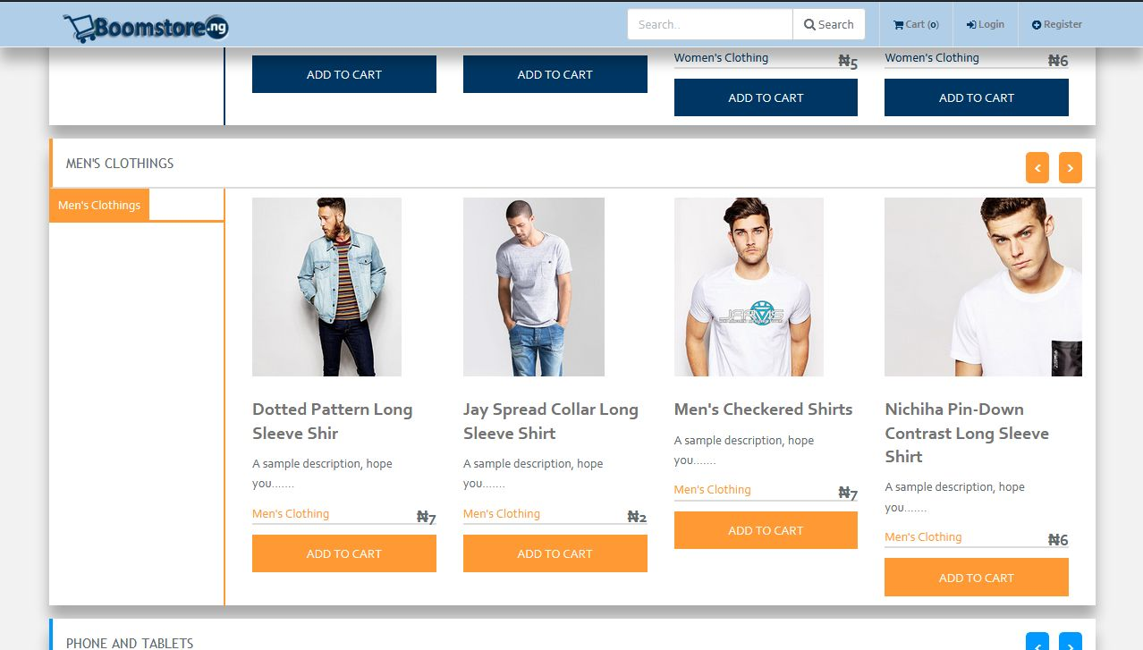 Boomstore - eCommerce System PHP Screenshot 2