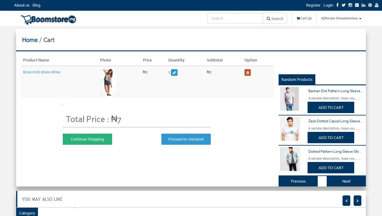 Boomstore - eCommerce System PHP Screenshot 5