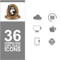 36 Download And Upload Icons