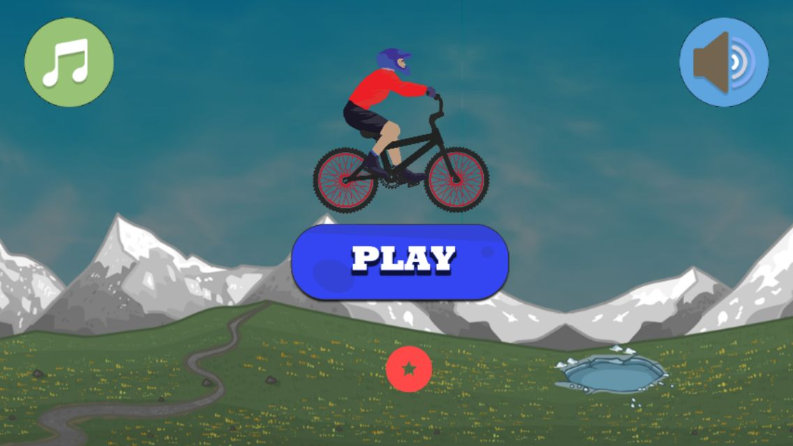 BMX Climbing Adventure - Buildbox Template Screenshot 1