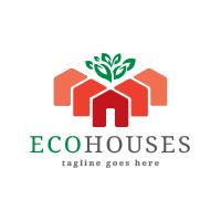 Eco Houses Logo Temolate