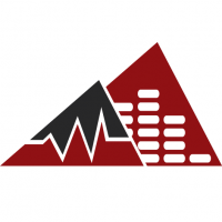 Mountain Waves and Music Equalizer Logo