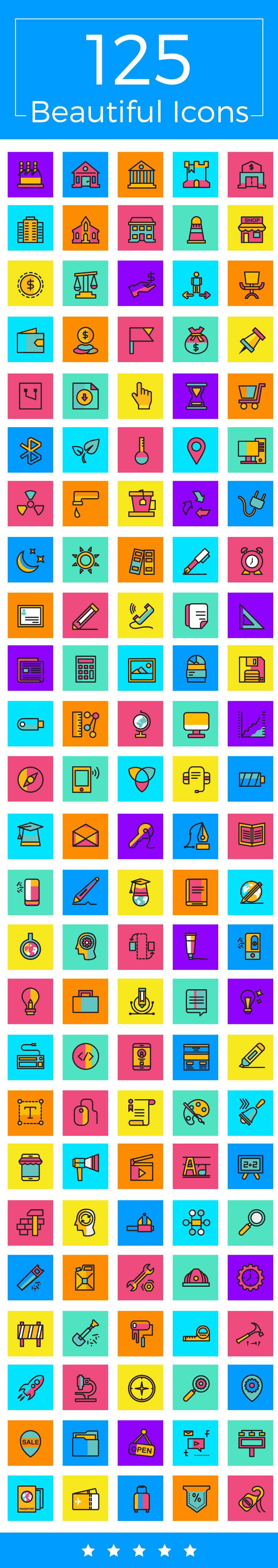 125 Beautiful Icons Screenshot 1