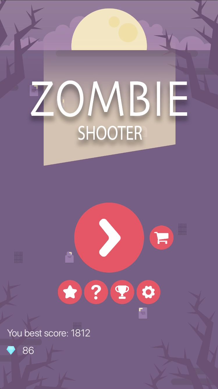 Zombie Shooter - iOS Source Code Screenshot 1