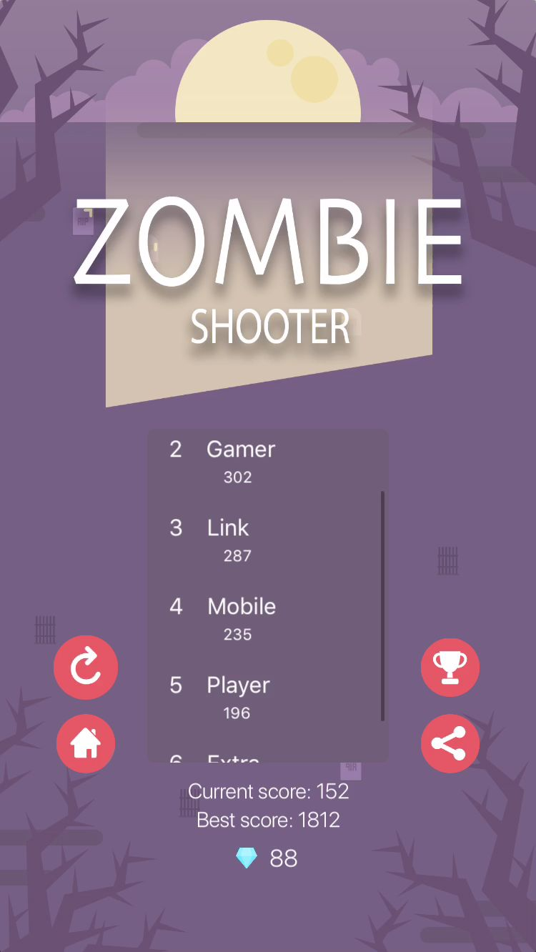 Zombie Shooter - iOS Source Code Screenshot 4