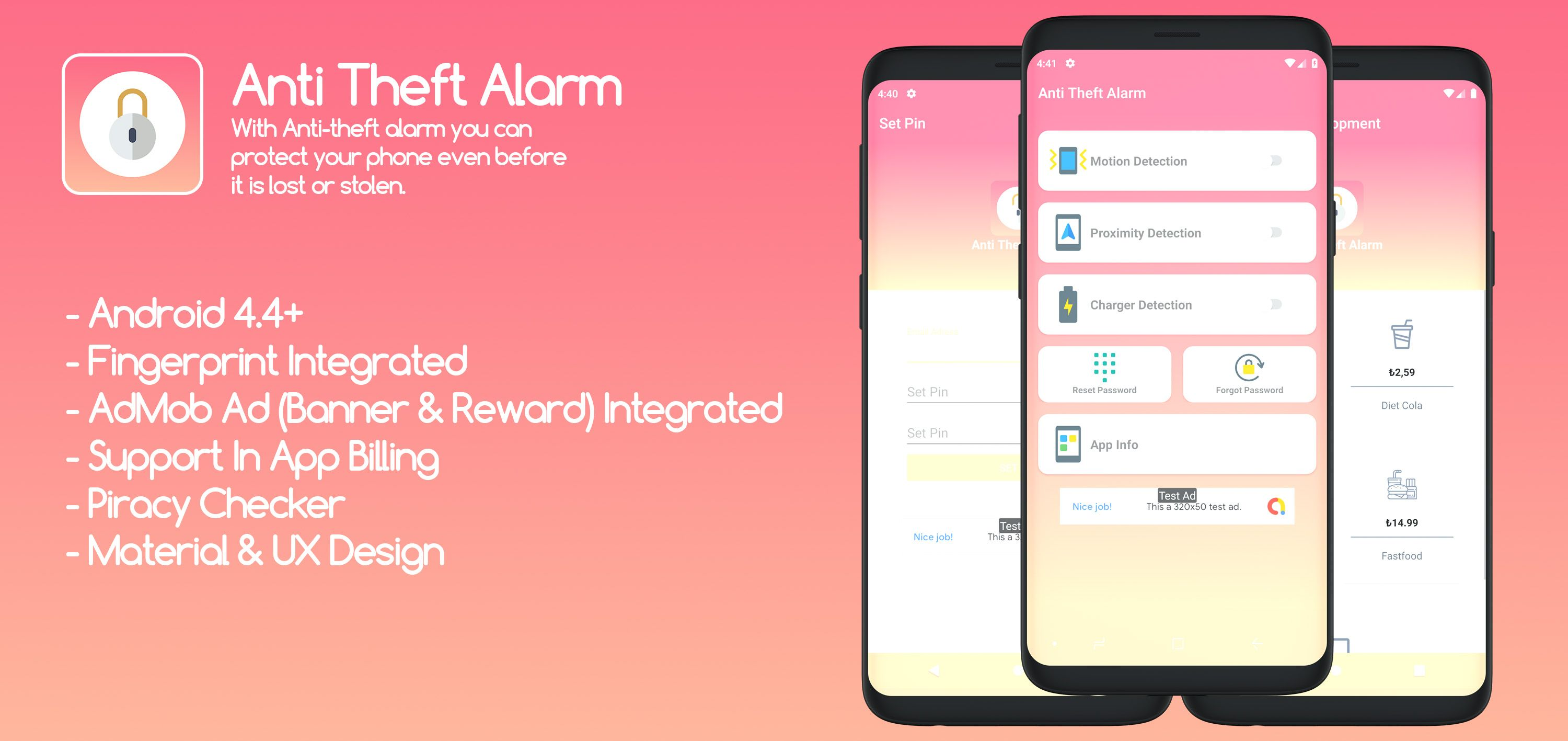 Anti Theft Alarm - Android Source Code Screenshot 1