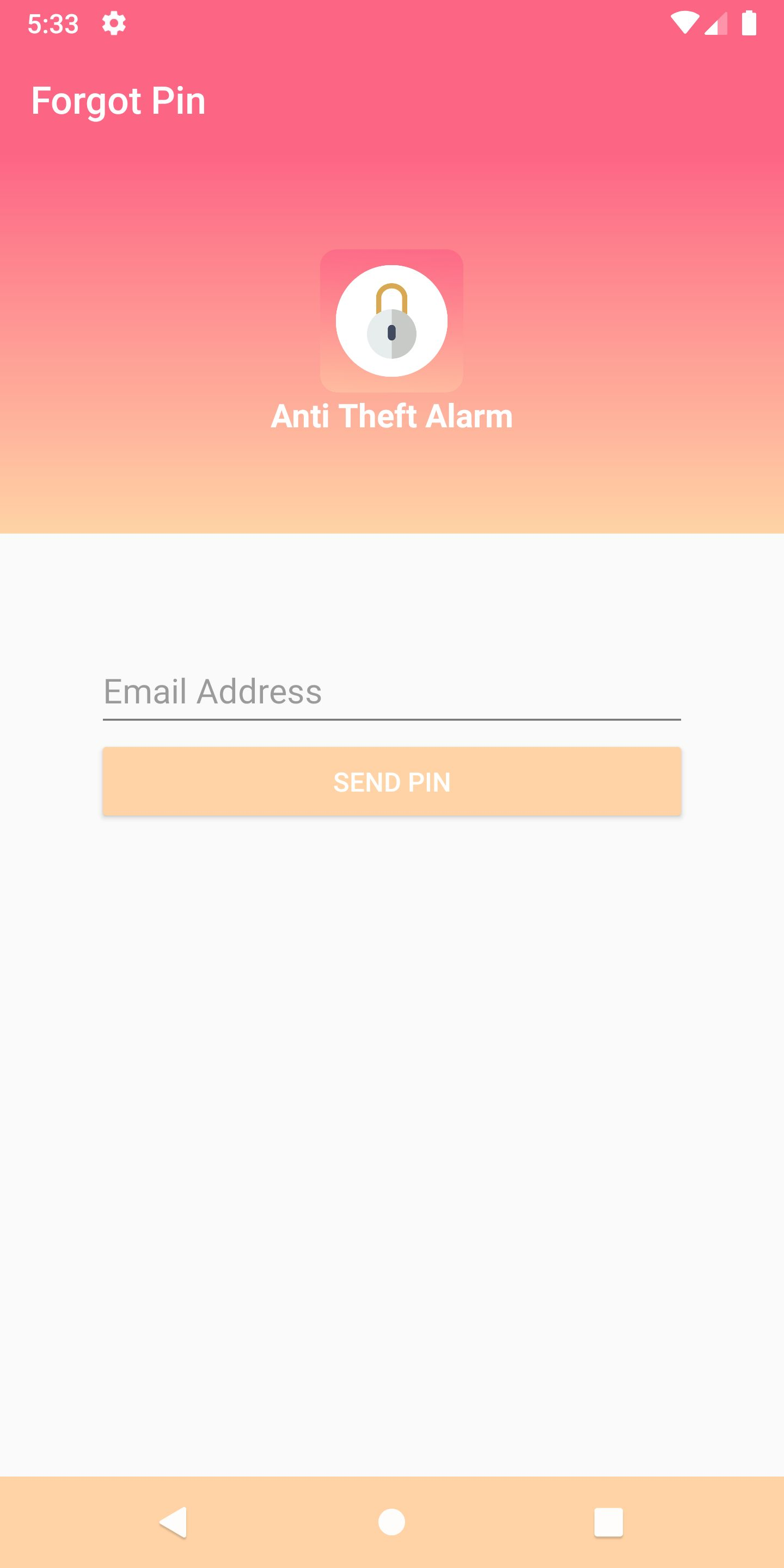 Anti Theft Alarm - Android Source Code Screenshot 7